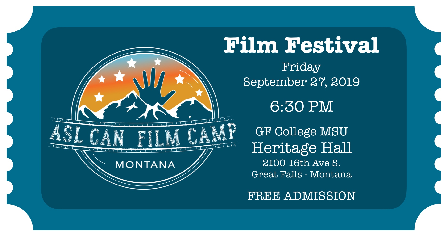 Film Festival! @ Heritage Hall - Great Falls College MSU