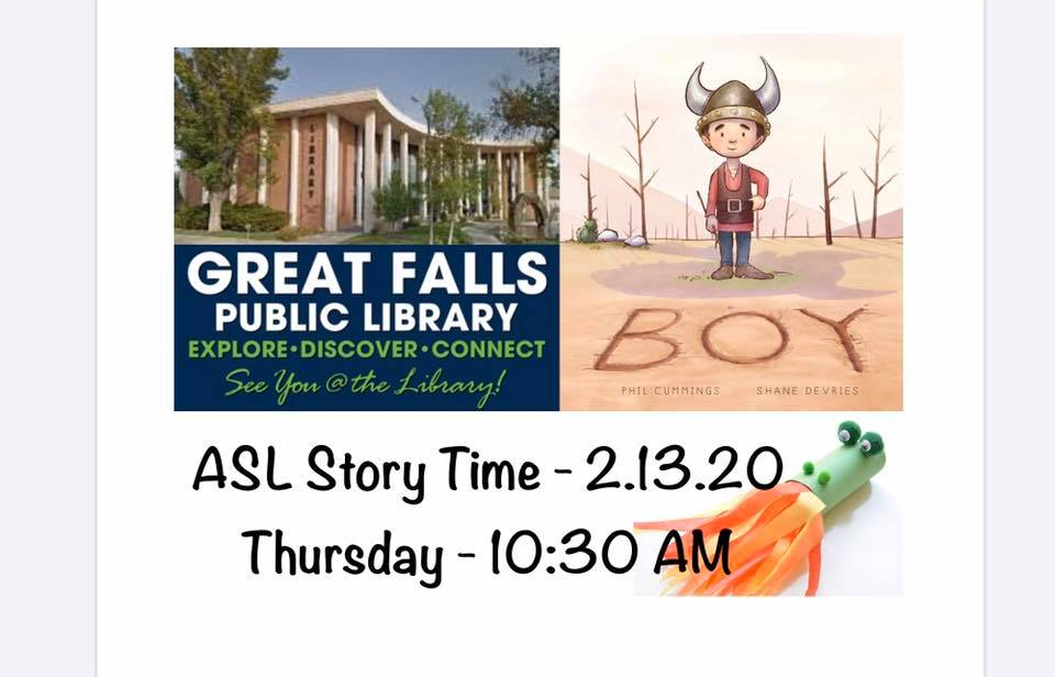 ASL Story Time at Great Falls Public Library @ Great Falls Public Library