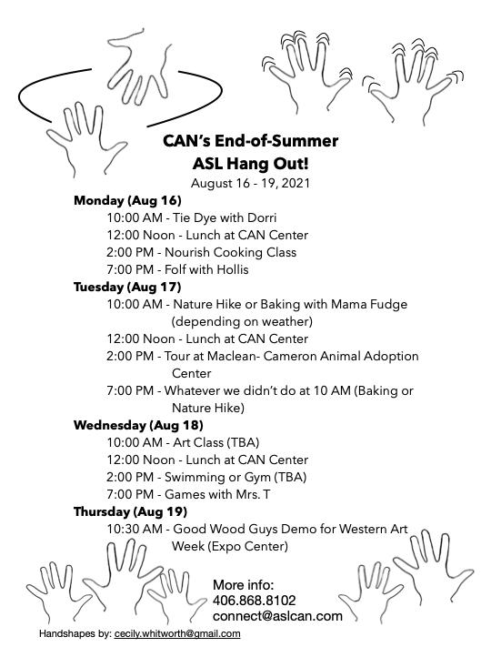 End-of-Summer ASL Hangout '21 @ CAN Center